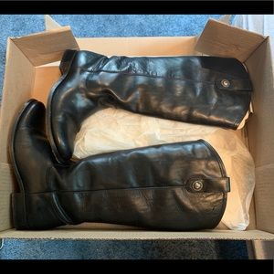 Frye Melissa Button Leather Boot Extended Calf